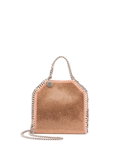 Metallic Tiny Bela Crossbody Bag, Powder