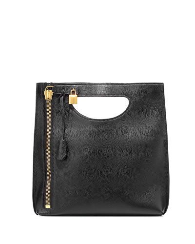 Alix Fold-Over Crossbody Bag, Black