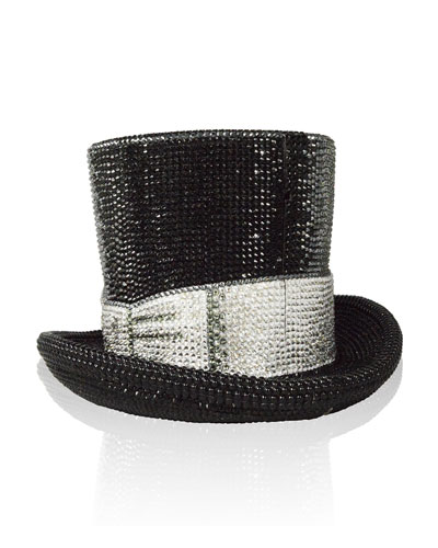 Topper Crystal Top Hat Minaudiere, Jet/Multi