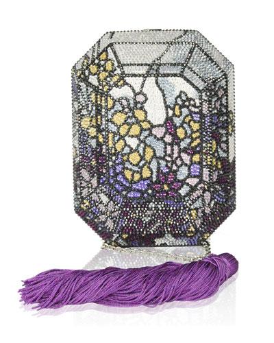 Addison Floral Crystal Octagon Clutch Bag