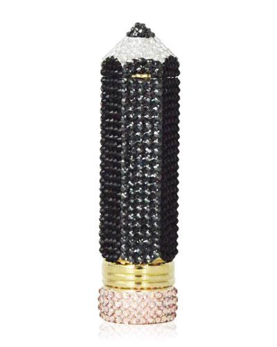 Number 2 Crystal Pencil Pillbox, Jet/Multi