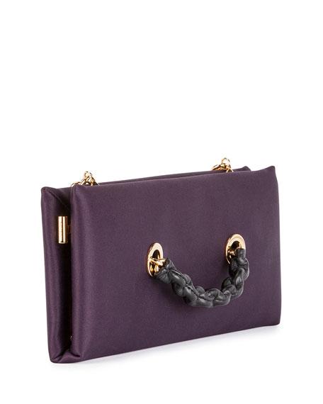 Small Satin Chain Clutch Bag