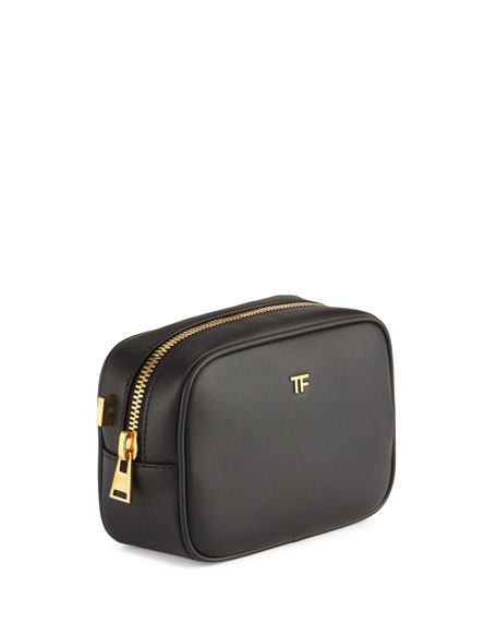 TF Leather Cosmetic Bag with Strap