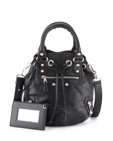 Balenciaga Giant 12 Mini Pompon Bag, Black 3d80ac0e9e