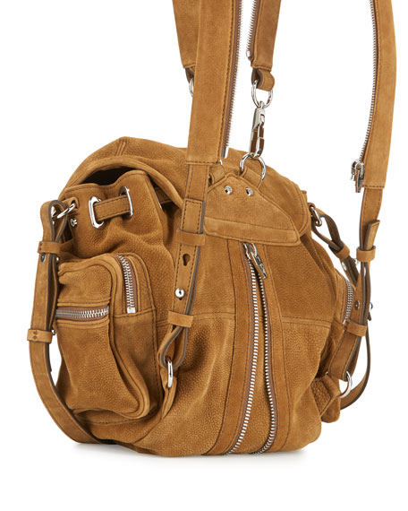 Marti Mini Nubuck Backpack, Nut