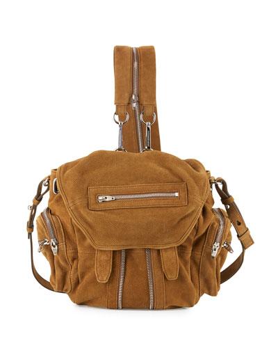 Marti Mini Nubuck Backpack, Nut