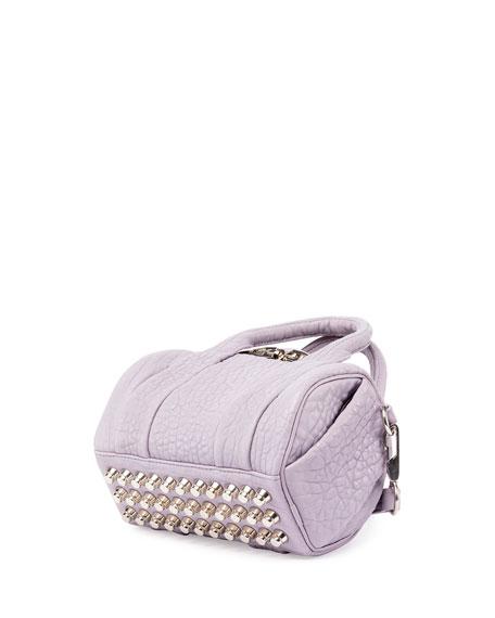Mini Rockie Pebbled Leather Satchel Bag, Lavender