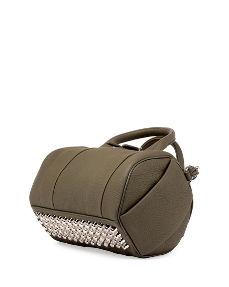 Mini Rockie Matte Pebbled Duffel Bag, Grass