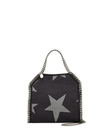 e6309dbe63a Stella McCartney Mini Bella Star-Print Denim Tote Bag, Black