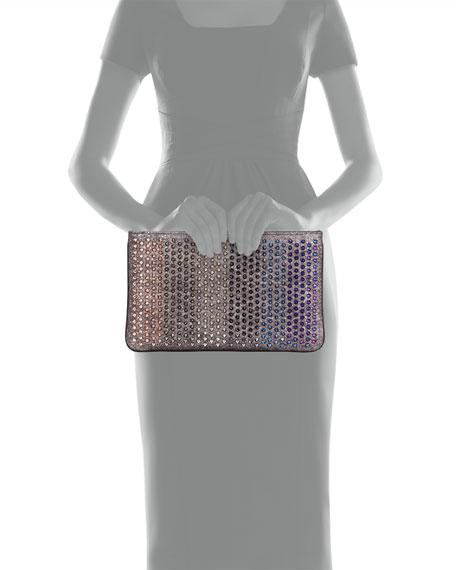 Loubiposh Colorblock Spiked Clutch Bag, Multi