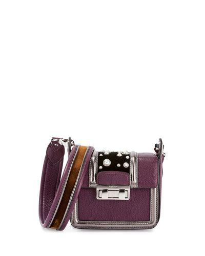 Jiji Studded Mini Shoulder Bag, Purple