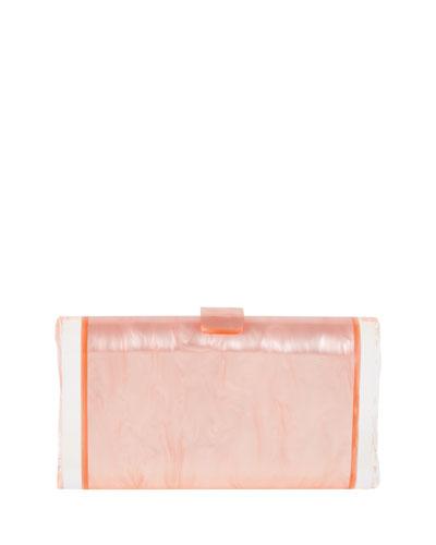 Lara Pearlescent Acrylic Ice Clutch Bag