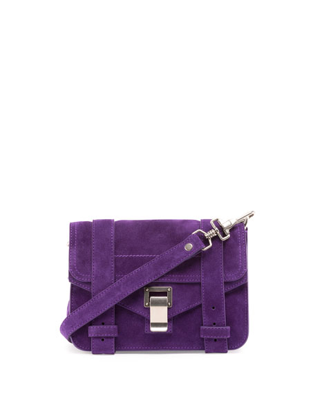 PS1 Mini Suede Crossbody Bag, Amethyst