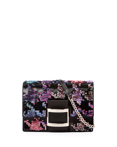 Roger Vivier Viv Micro Sequined Houndstooth bag (Reduced to £990)