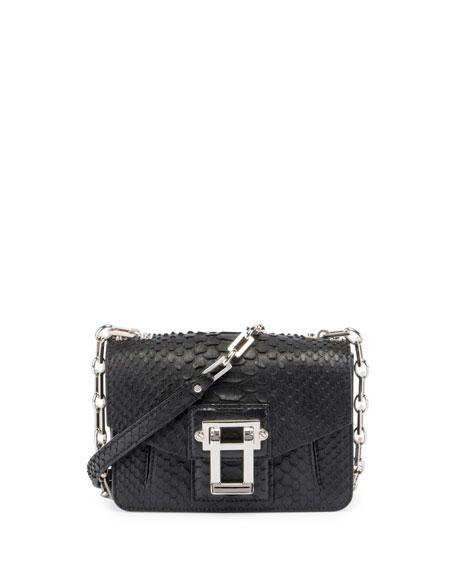 Proenza Schouler Hava Python Crossbody Bag, Black