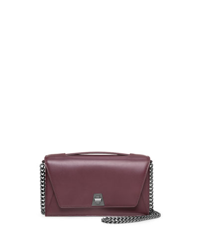 Anouk Soft Leather City Bag, Burgundy