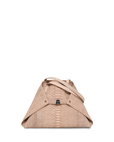 Ai Python Small Shoulder Bag, Neutral