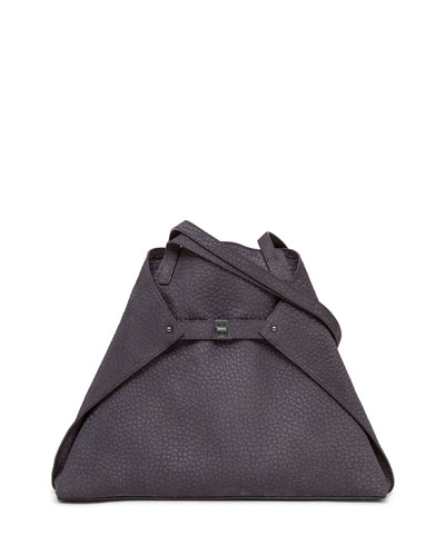 Ai Medium Soft Nubuck Shoulder Bag, Denim