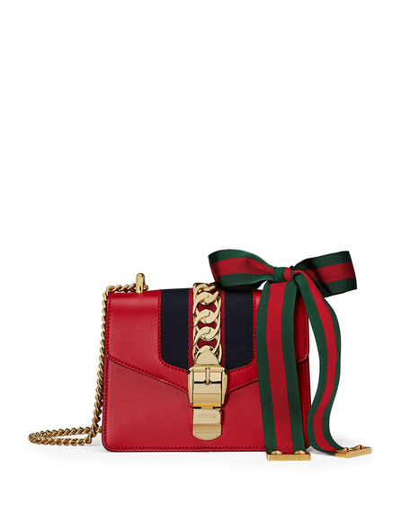 a04a9656cd1 Gucci Sylvie Leather Mini Chain Shoulder Bag