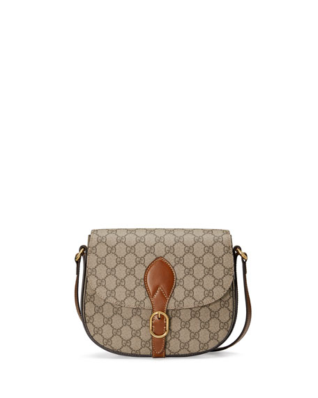 GG Canvas Saddle Bag, Beige