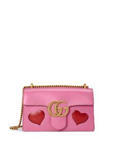 479f6c6b9996 Gucci GG Marmont Medium Heart Shoulder Bag