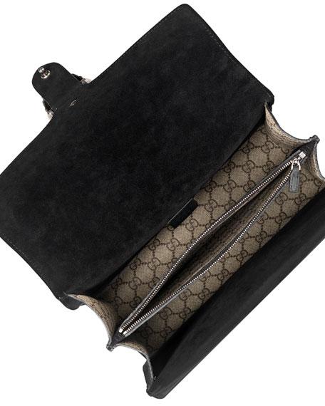 Dionysus Embroidered Canvas Shoulder Bag, Brown