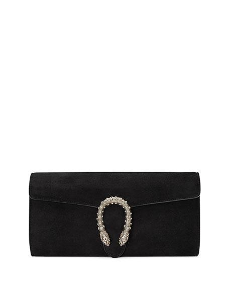 69abfc97c9b4 Gucci Dionysus Suede Clutch Bag