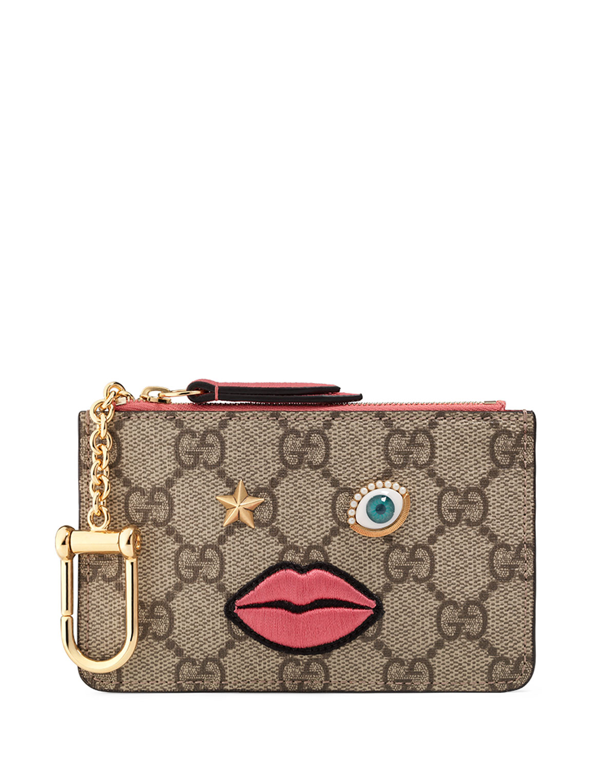Gucci Circus Key Pouch, Brown