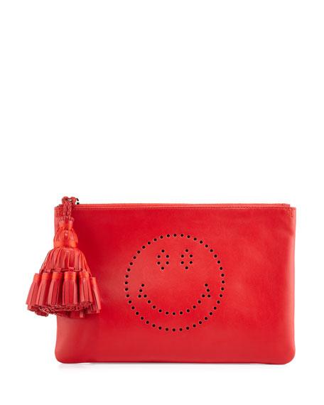 Georgiana Smiley Leather Clutch Bag