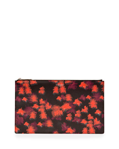 Iconic Prints Medium Zip Pouch, Red/Multi