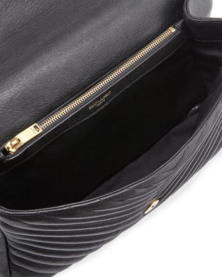 ce39a76f6d5 Saint Laurent Monogram YSL College Large Chain Shoulder Bag, Black/Gold