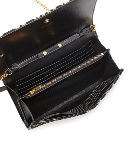 e594b4d6b59 Monogram Stars Flap Wallet-on-a-Chain Gold/Black
