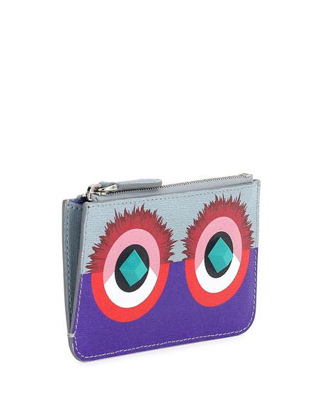 258367290367 Fendi Monster Print Key Ring Pouch