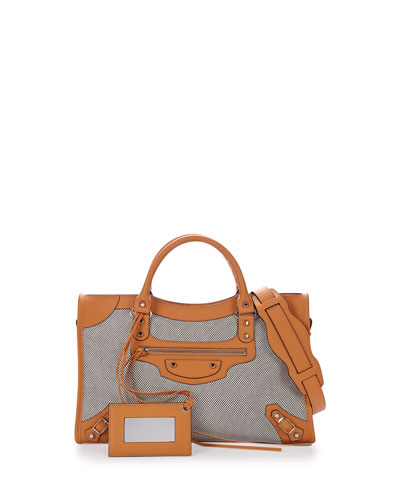 Classic City Perforated Twill Bag, Tan