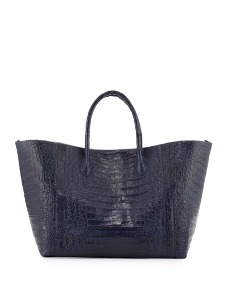Large Crocodile Convertible Tote Bag