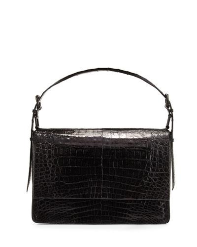 Crocodile New Flap Satchel Bag