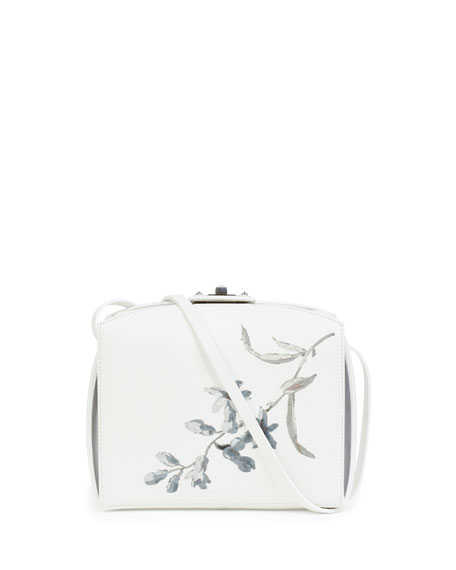 Alexander Mcqueen Unicorn Box Clutch Bag White