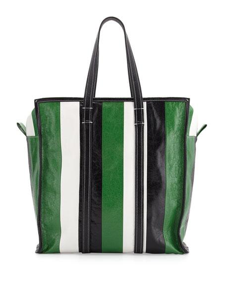 Balenciaga Bazar Medium Striped Leather Shopper Tote Bag 7cf8158971031