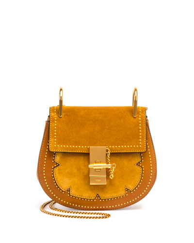 Drew Mini Chain Saddle Bag, Mustard Brown