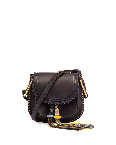 Hudson Small Tassel Shoulder Bag, Full Blue