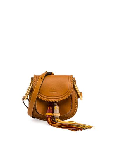 Hudson Mini Tassel Saddle Bag, Mustard Brown