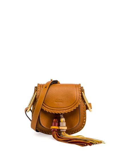 1b34c30e36586 Chloe Hudson Mini Tassel Saddle Bag, Mustard Brown