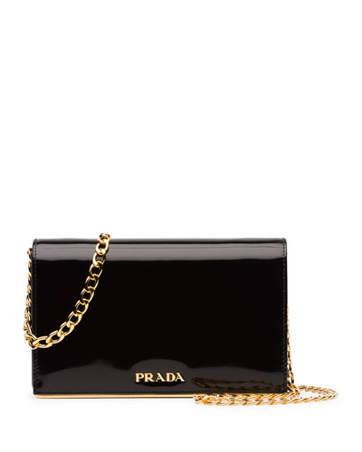 prada leopard-print calfskin flap shoulder bag