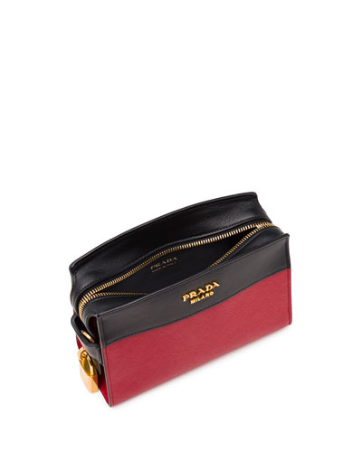 PRADA Women\u0026#39;S Bn2435 Black Leather Shoulder Bag