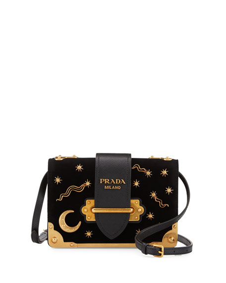45083828070f Prada Cahier Astrology Velvet Shoulder Bag