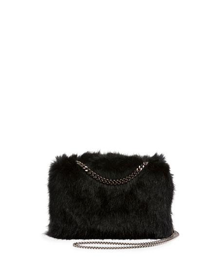 4dd6630c96 Stella McCartney Faux-Fur Chain Clutch Bag