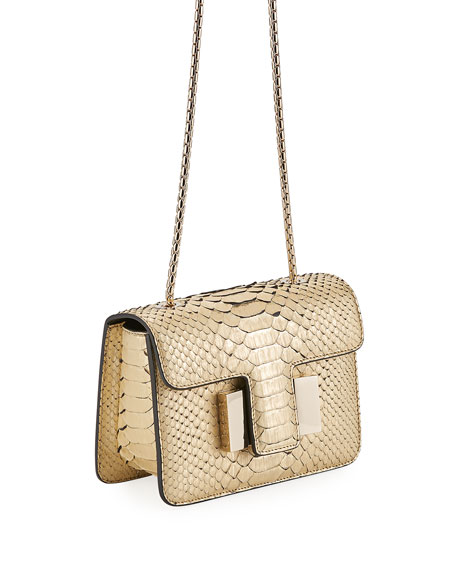 Sienna Mini Python Crossbody Bag