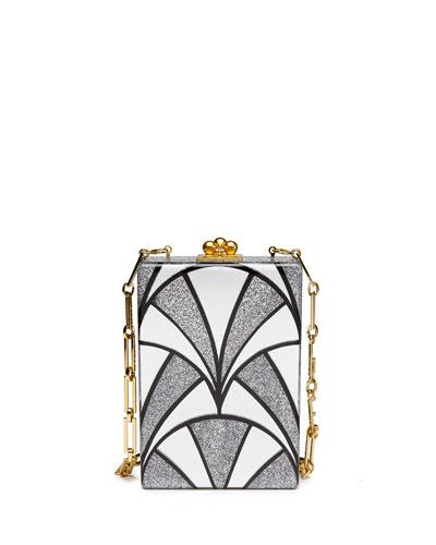 Carol Noveau Acrylic Clutch Bag, Silver