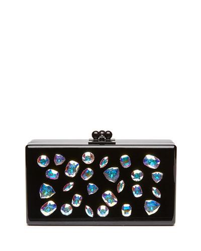 Jean Jewelie Clutch Bag, Black Multi
