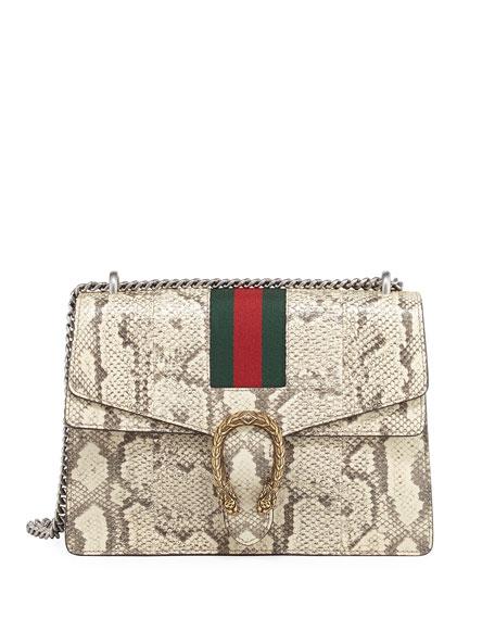 Gucci Dionysus Medium Python Shoulder Bag, Neutral